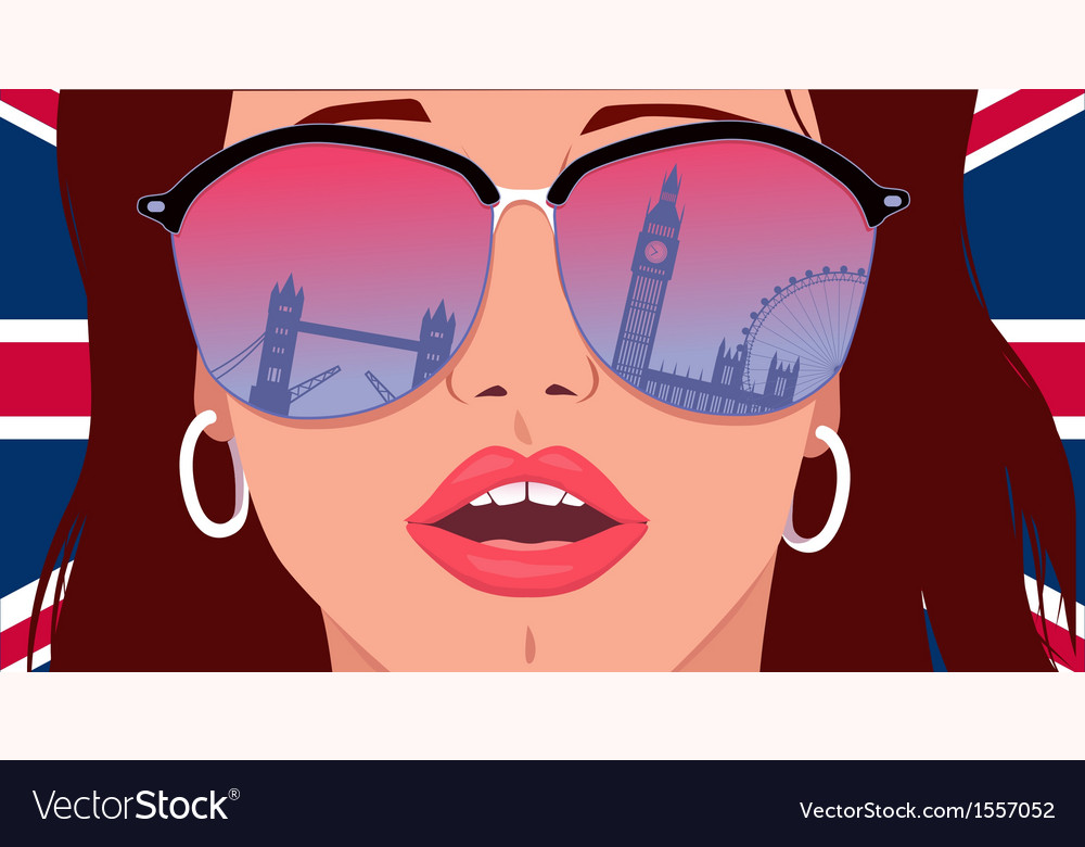 Visit london learn english vector | Price: 3 Credit (USD $3)
