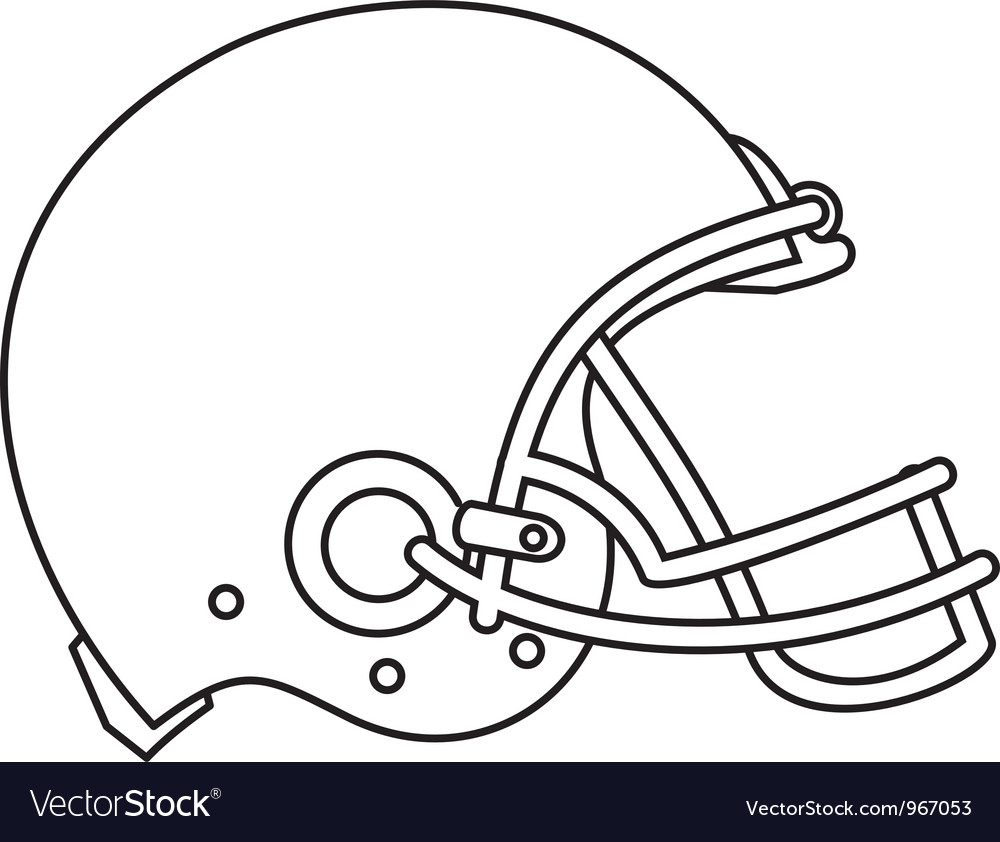 American football helmet line drawing vector | Price: 1 Credit (USD $1)