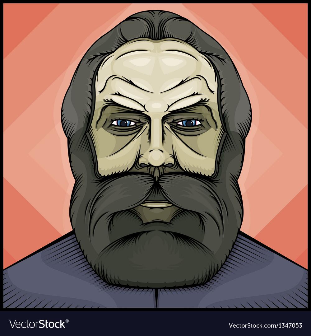 Bearded man vector   Price: 3 Credit (USD $3)