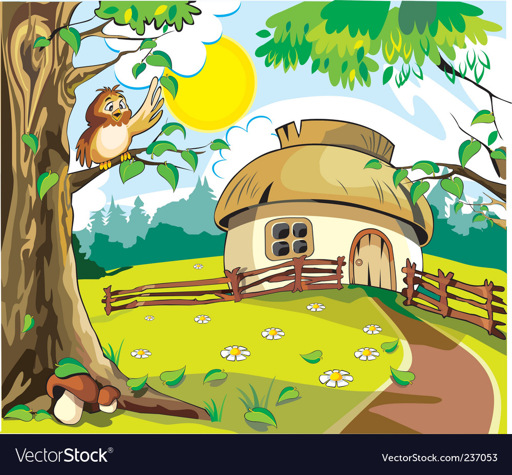 Country cottage vector | Price: 3 Credit (USD $3)