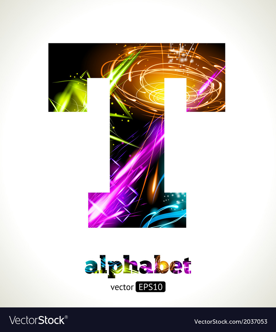 Design abstract letter t vector | Price: 1 Credit (USD $1)