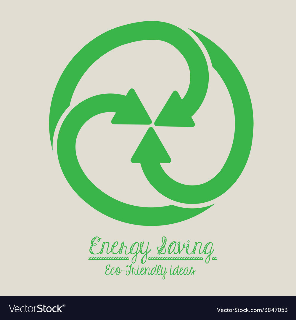 Energy saving design vector | Price: 1 Credit (USD $1)