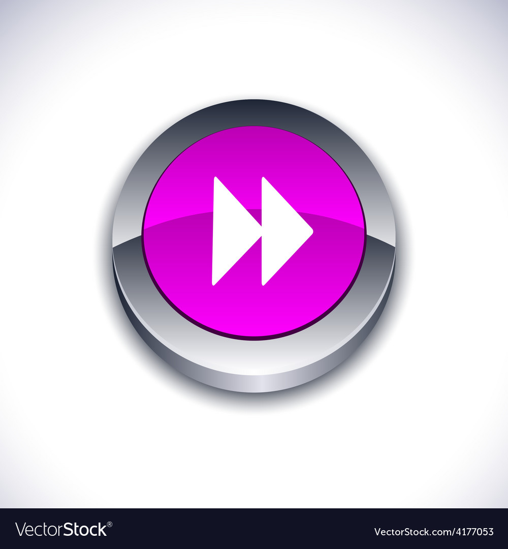 Forward 3d button vector | Price: 1 Credit (USD $1)