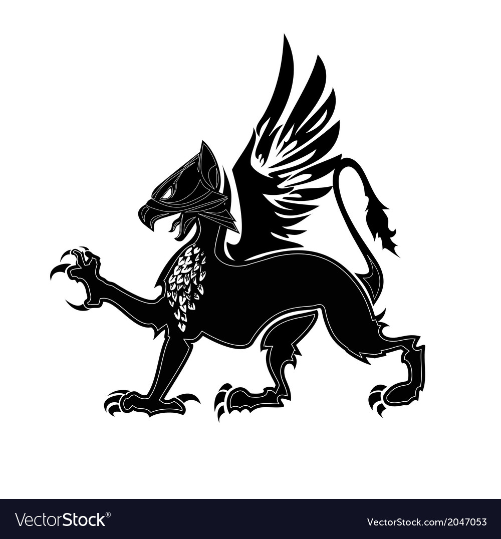 Griffin heraldry 2 vector | Price: 1 Credit (USD $1)