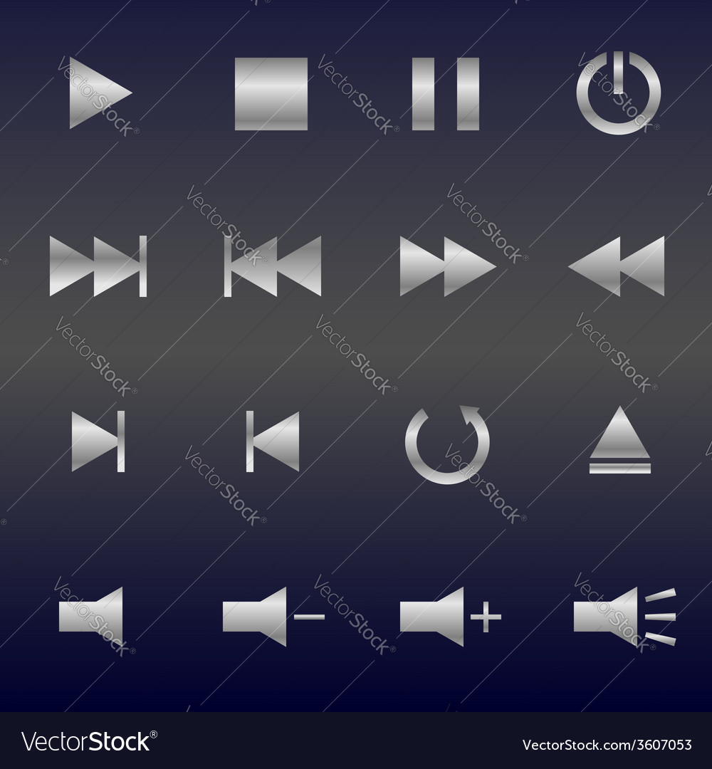 Media player buttons vector   Price: 1 Credit (USD $1)
