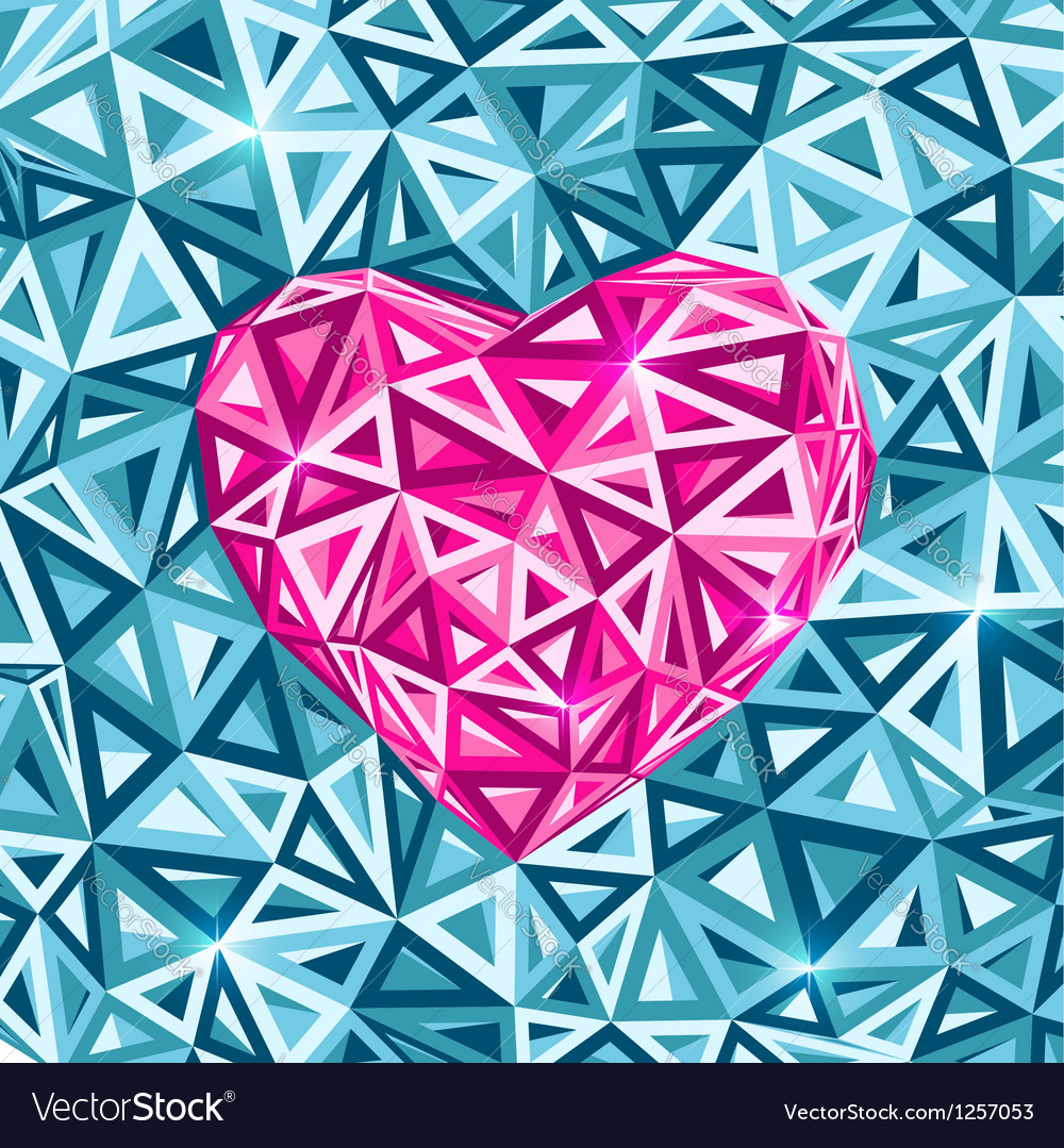 Pink abstract valentines day heart vector | Price: 1 Credit (USD $1)