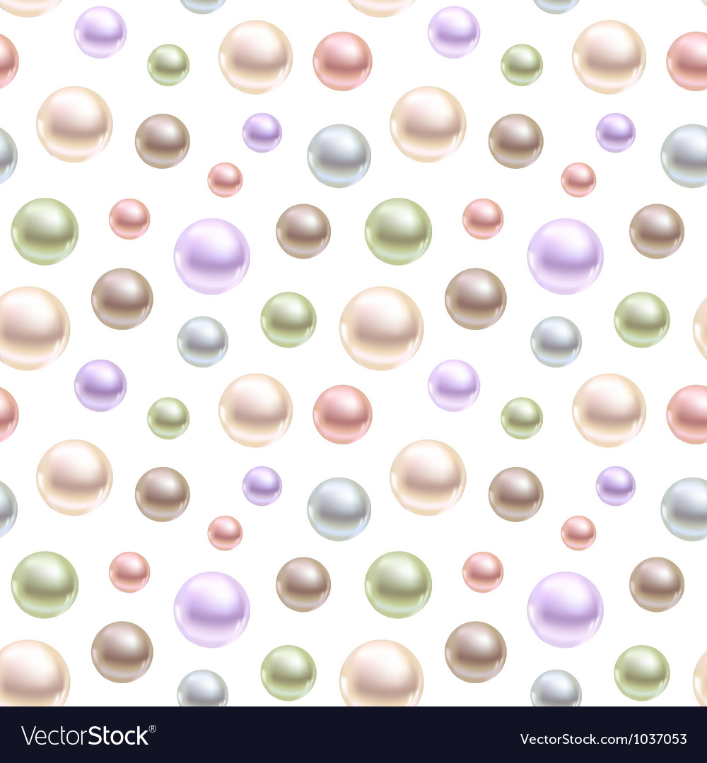 Spherical pearls of different colors vector | Price: 1 Credit (USD $1)