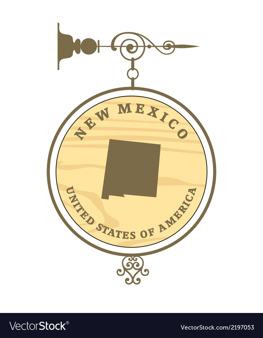Vintage label new mexico vector | Price: 1 Credit (USD $1)
