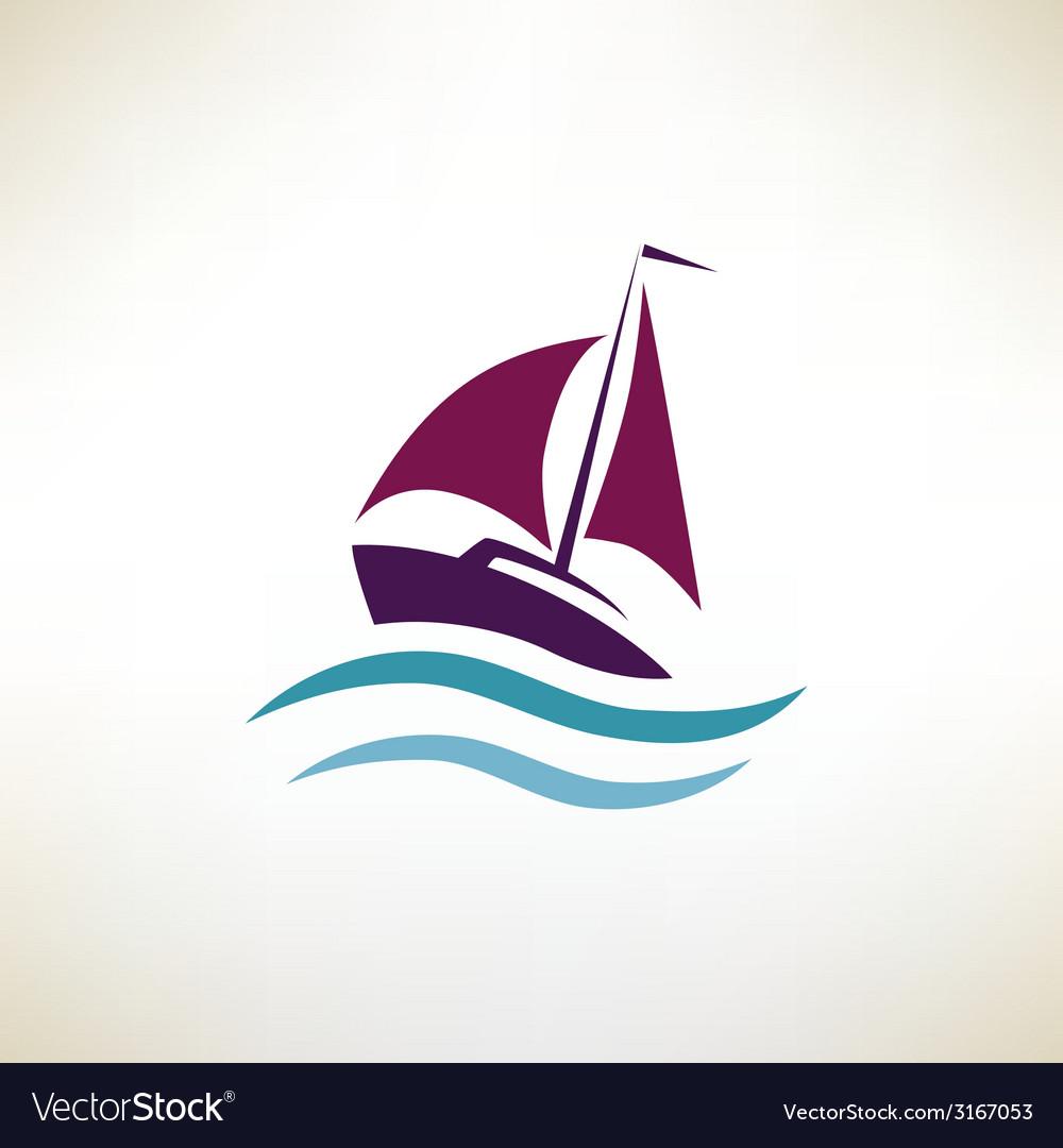 Yacht symbol regatta concept vector | Price: 1 Credit (USD $1)