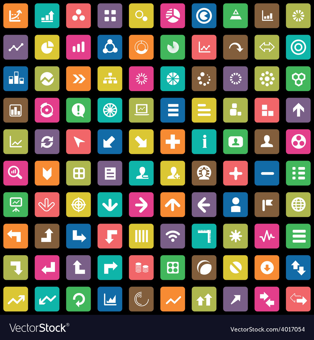 100 diagram icons vector | Price: 1 Credit (USD $1)