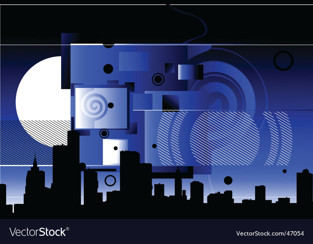 Abstract city scene vector | Price: 1 Credit (USD $1)