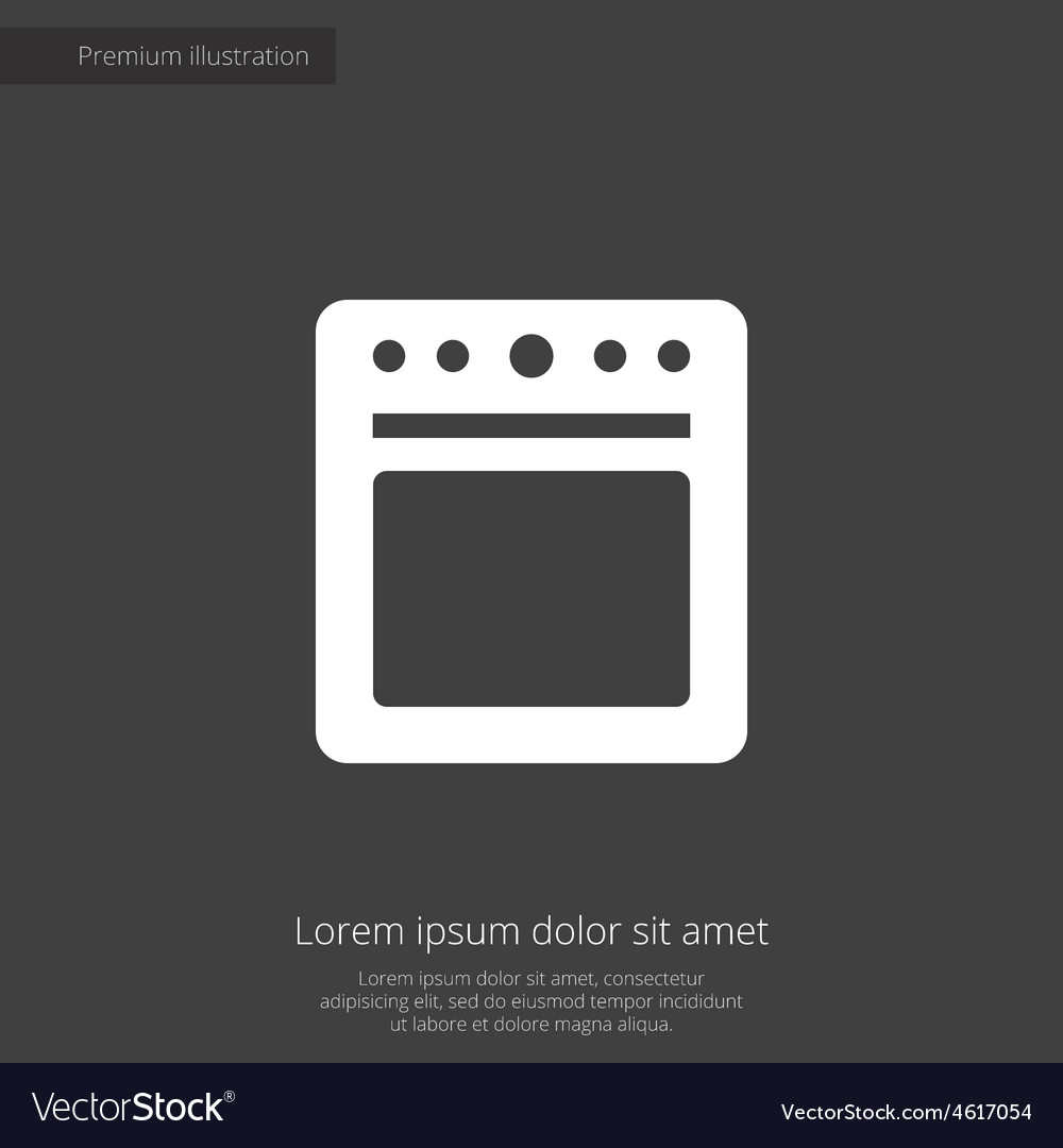 Cooker premium icon vector | Price: 1 Credit (USD $1)