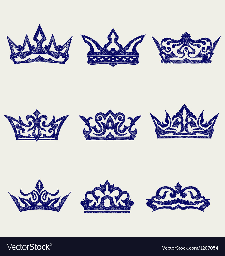 Crown collection vector | Price: 1 Credit (USD $1)