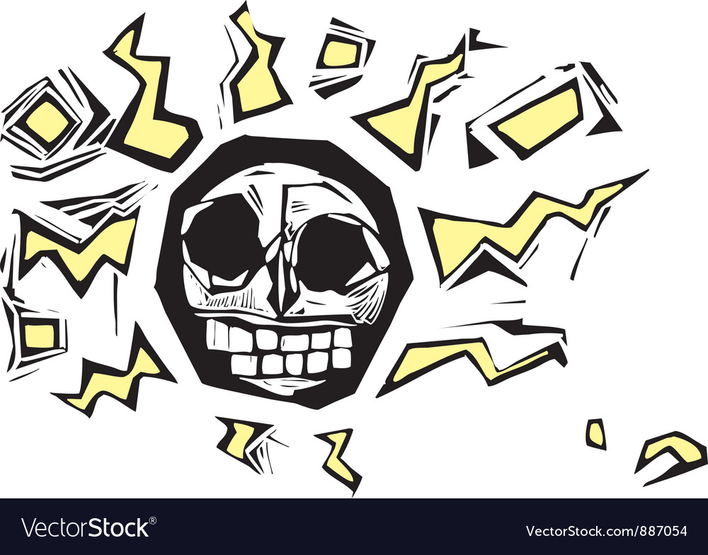 Electric skull vector | Price: 1 Credit (USD $1)