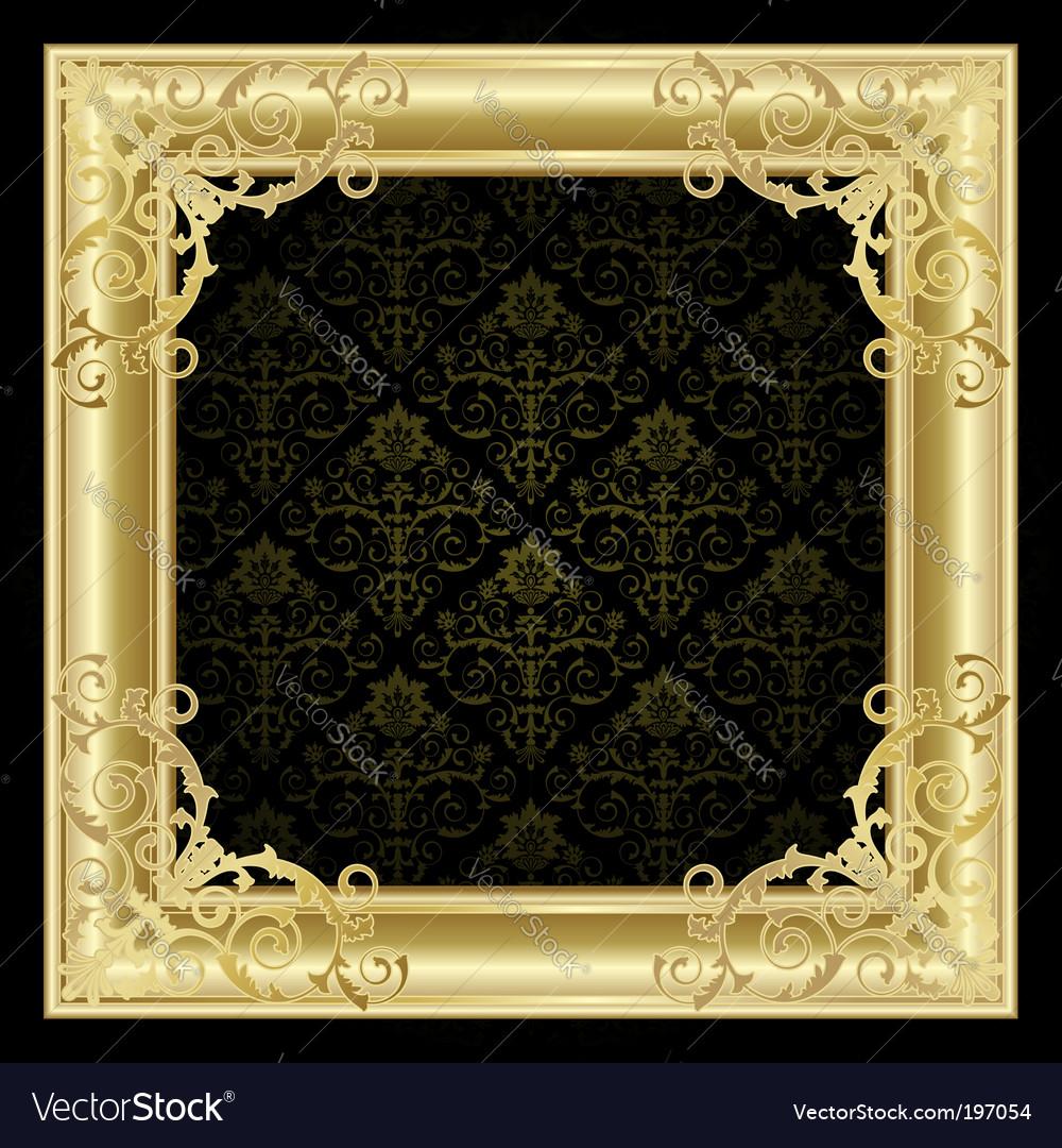 Golden frame vector | Price: 1 Credit (USD $1)