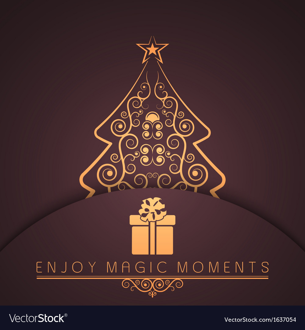 Holiday merry christmas new year vector | Price: 1 Credit (USD $1)