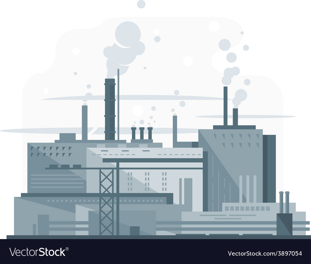 Industrial factory flat style vector | Price: 1 Credit (USD $1)