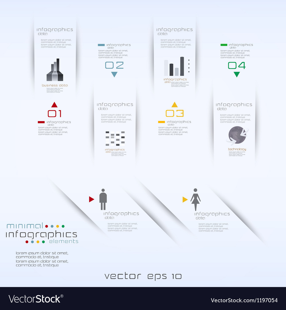 Infographics retro minimal vector | Price: 1 Credit (USD $1)