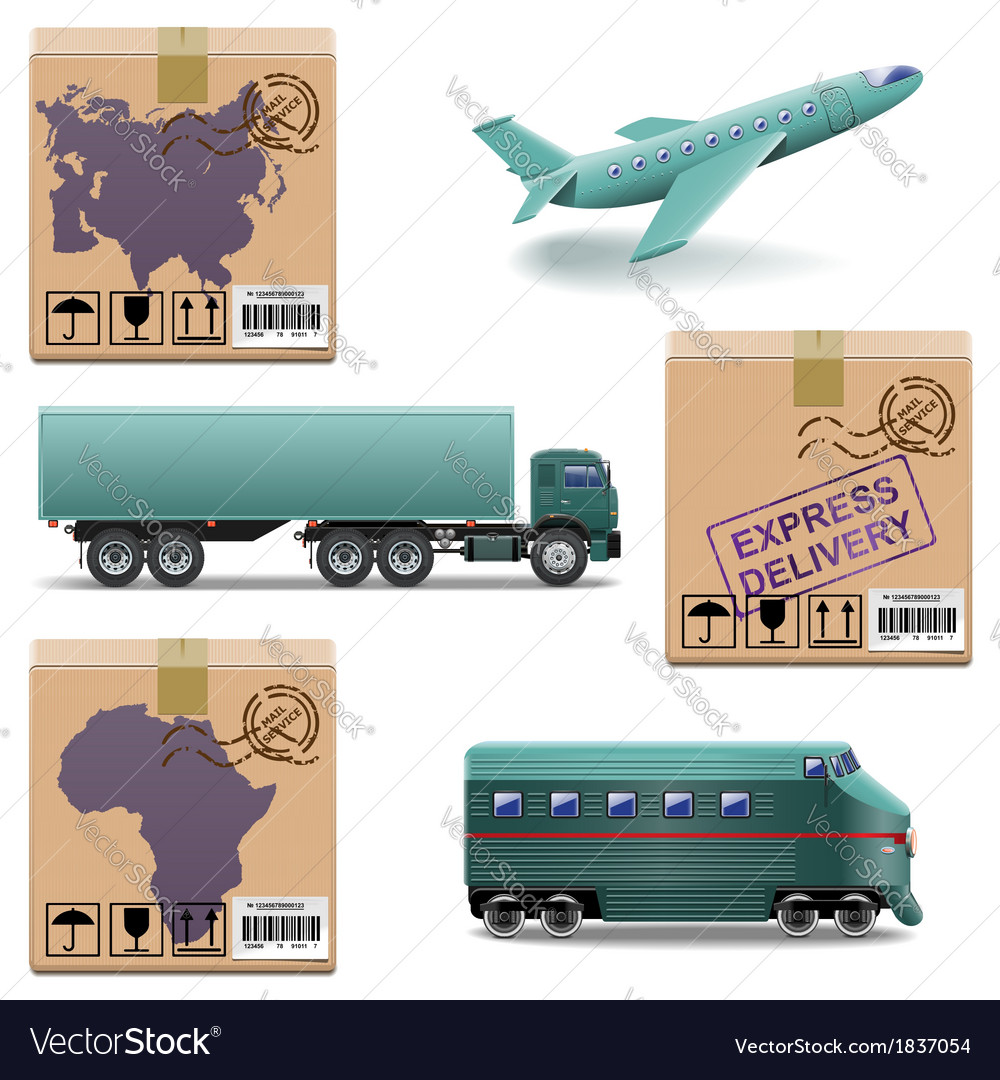 Shipment icons set 27 vector | Price: 3 Credit (USD $3)