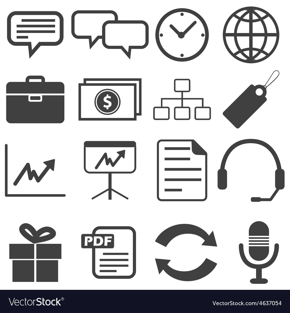 Simple black icon set 13 vector | Price: 1 Credit (USD $1)