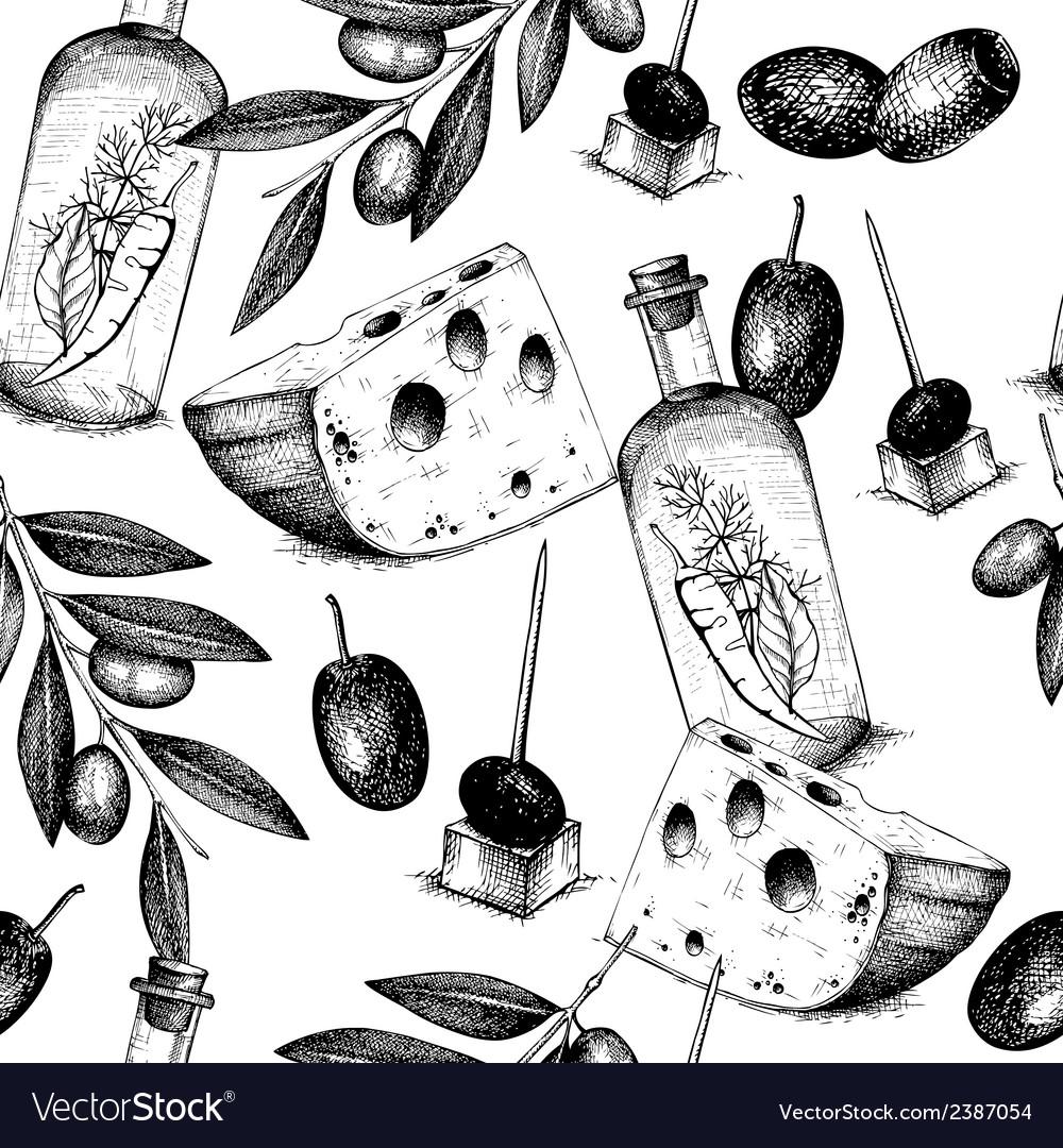 Vintage olive background vector | Price: 1 Credit (USD $1)