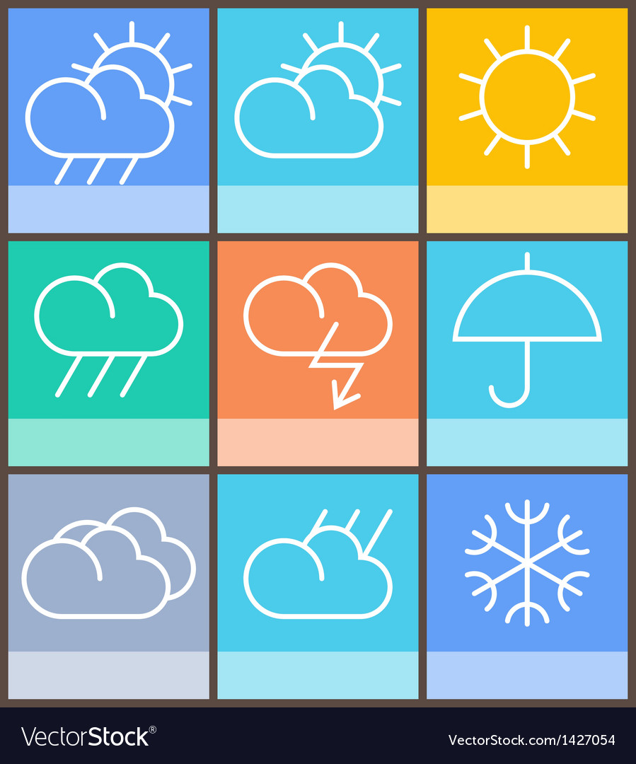 Weather sign vector | Price: 1 Credit (USD $1)