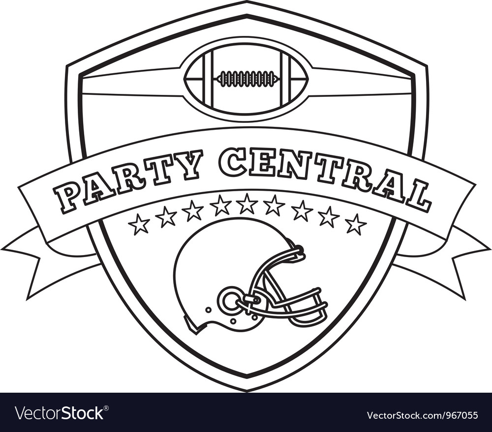 American football helmet shield line drawing vector | Price: 1 Credit (USD $1)