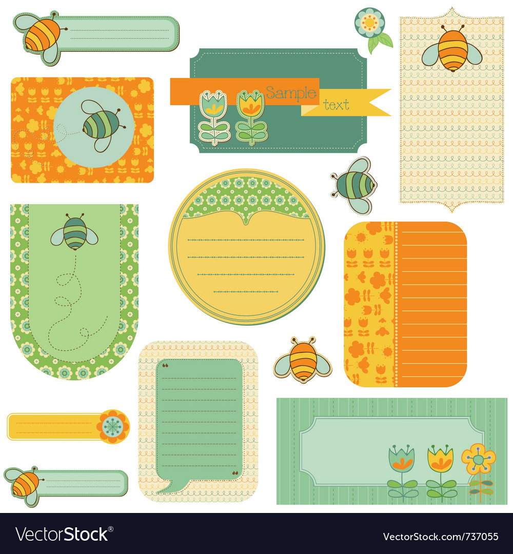 Baby scrap with bee vector | Price: 1 Credit (USD $1)