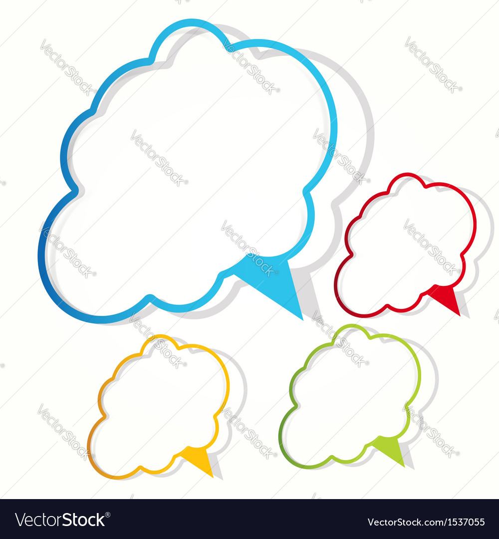 Empty cloud frame sticker vector | Price: 1 Credit (USD $1)