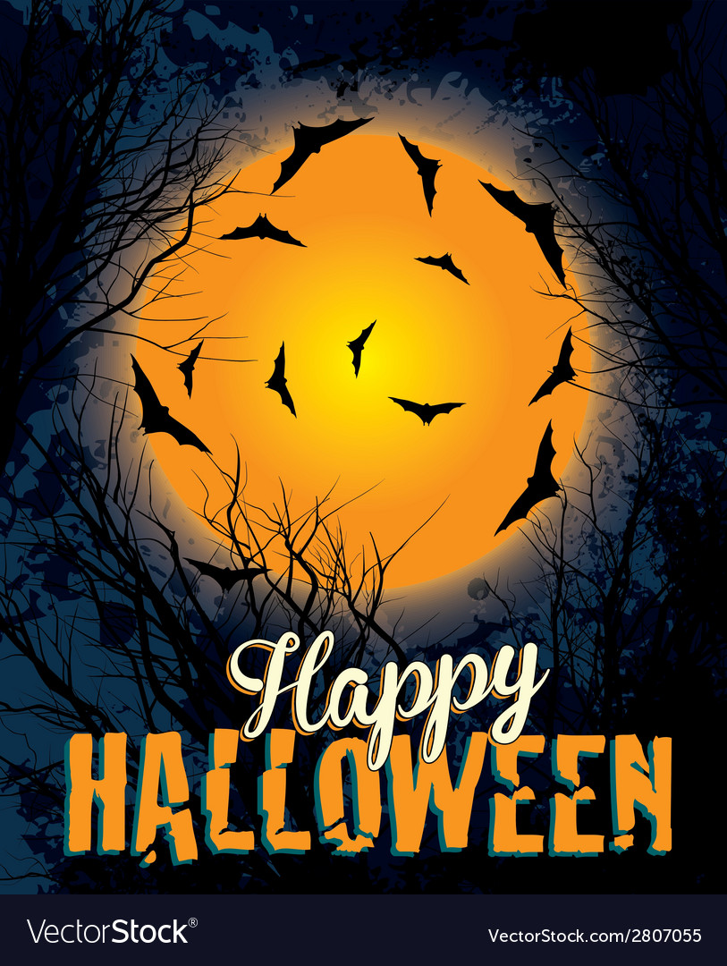 Halloween night background text vector | Price: 1 Credit (USD $1)