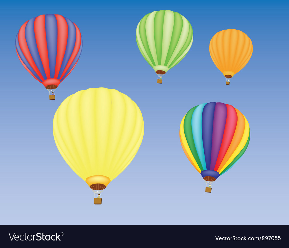 Hot air ballons vector | Price: 1 Credit (USD $1)