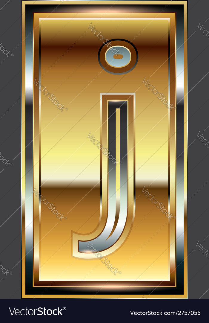 Ingot font letter j vector | Price: 1 Credit (USD $1)