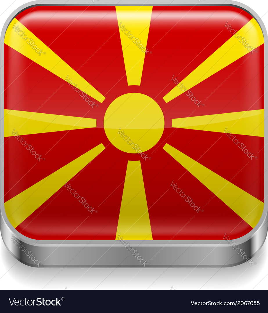 Metal icon of macedonia vector   Price: 1 Credit (USD $1)