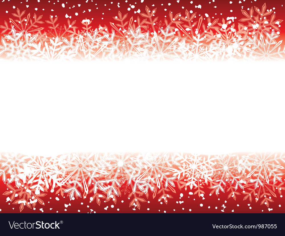 Red grunge winter background vector | Price: 1 Credit (USD $1)