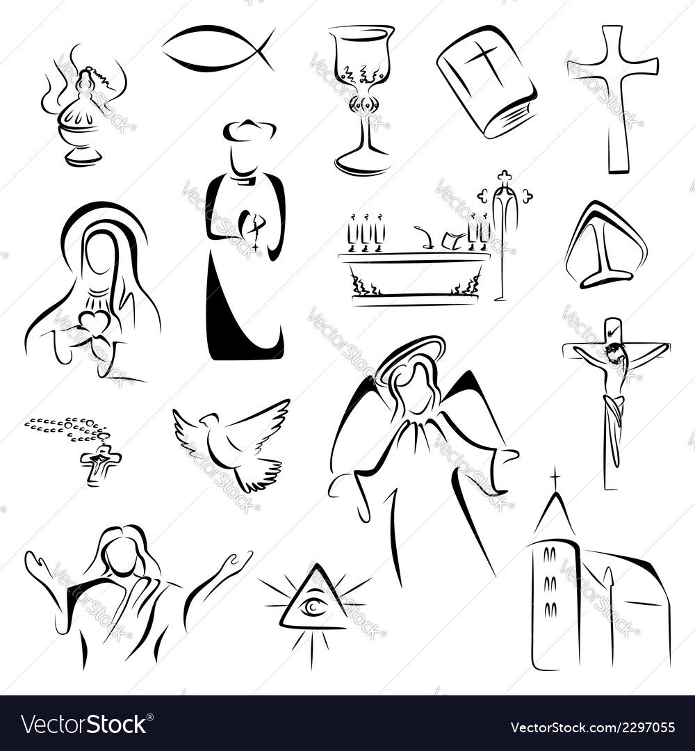 Religion icons vector | Price: 1 Credit (USD $1)