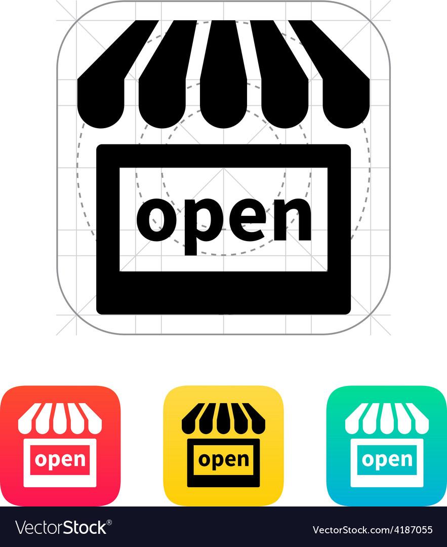 Shop open icon vector | Price: 1 Credit (USD $1)