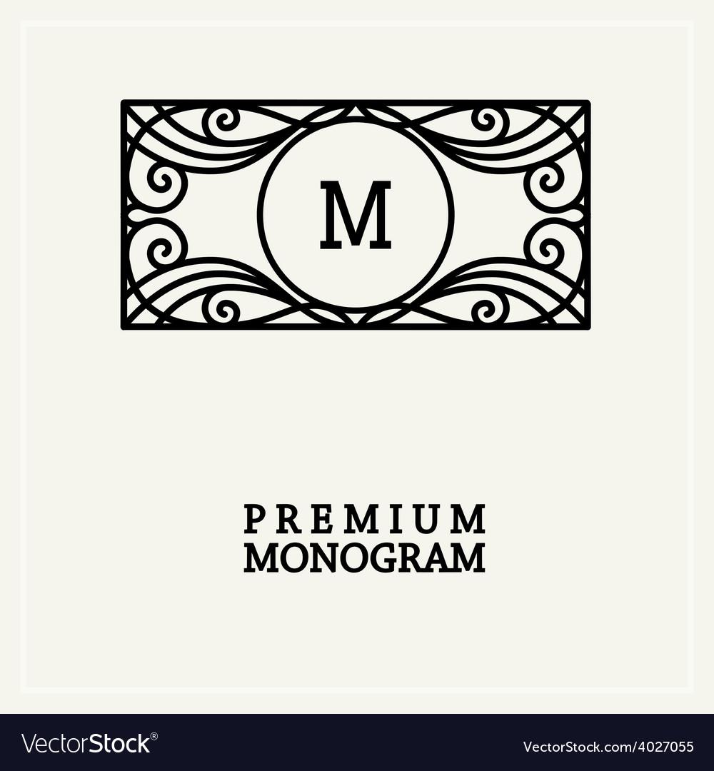Stylish vintage graceful monogram vector | Price: 1 Credit (USD $1)
