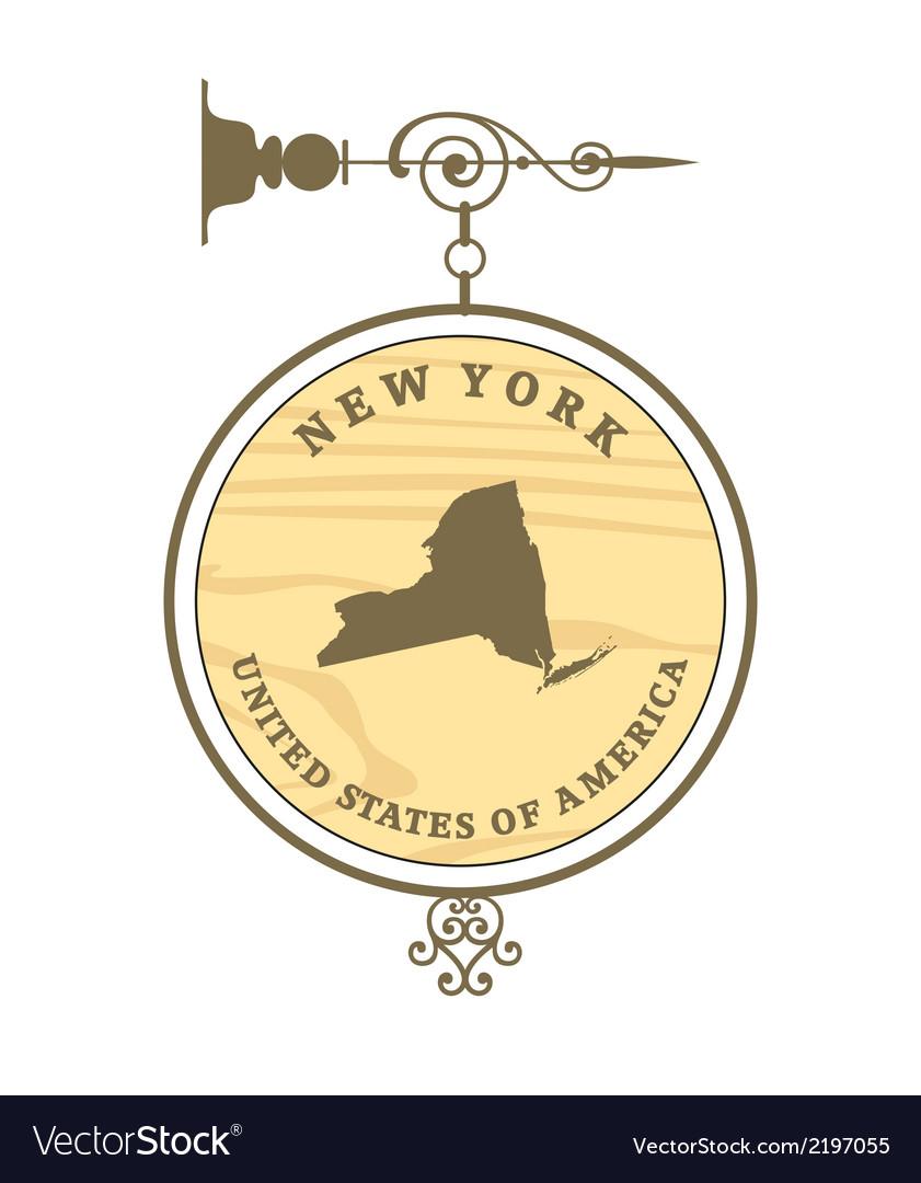 Vintage label new york vector | Price: 1 Credit (USD $1)