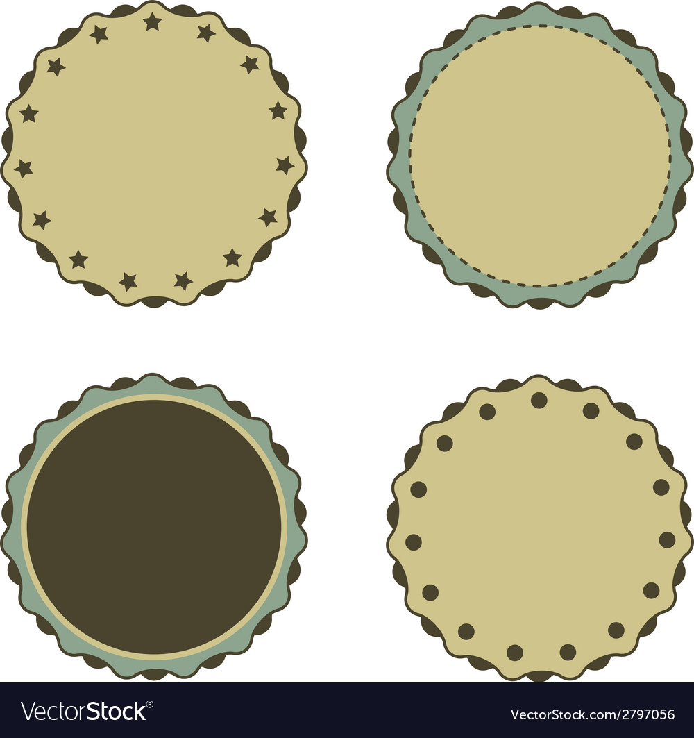 Circle sticker vintage promotions or qualities vector | Price: 1 Credit (USD $1)