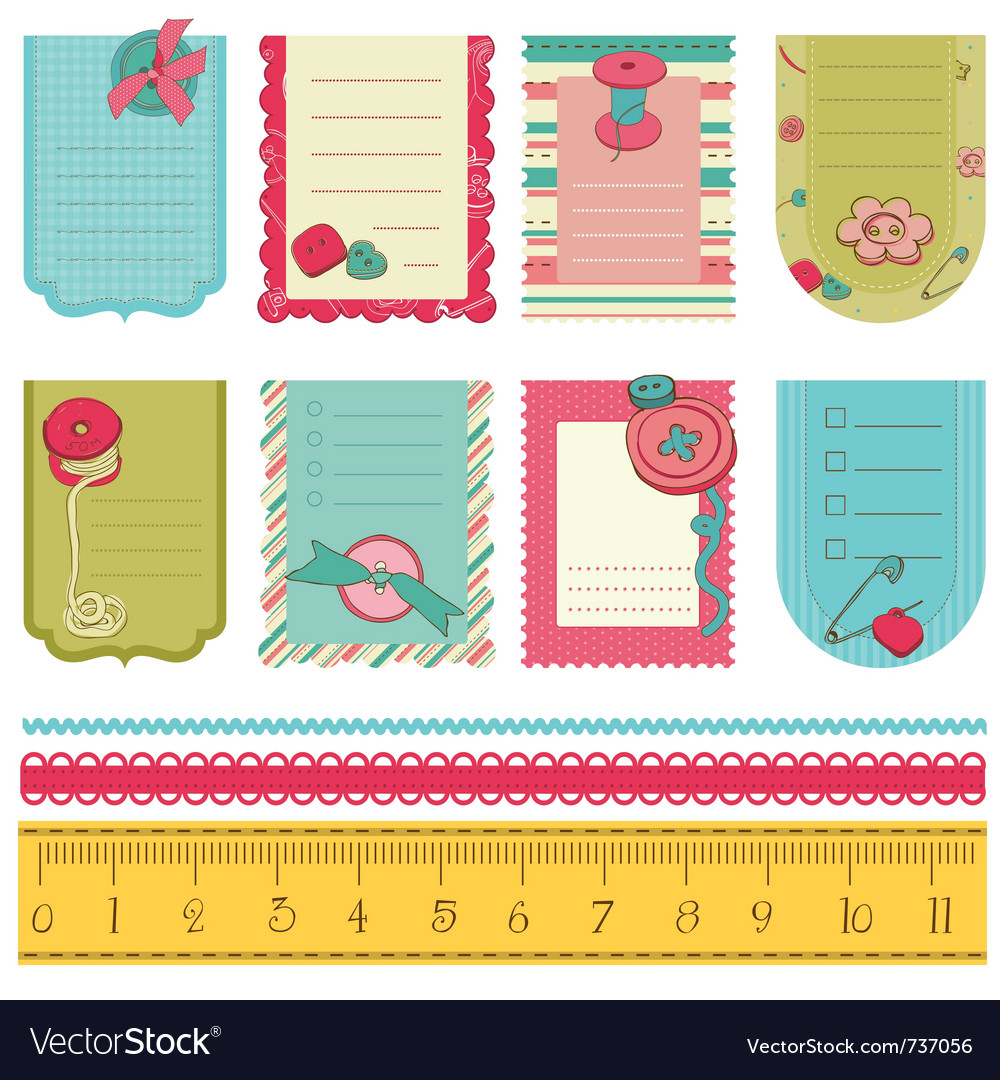 Design elements for baby scrapbook - cute tags wit vector | Price: 1 Credit (USD $1)