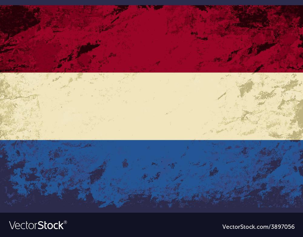Dutch flag grunge background vector | Price: 1 Credit (USD $1)