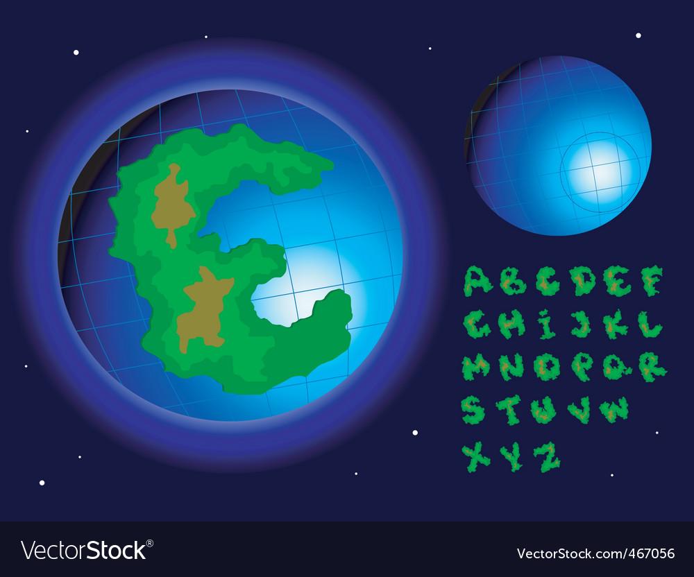Earth alphabet vector | Price: 1 Credit (USD $1)