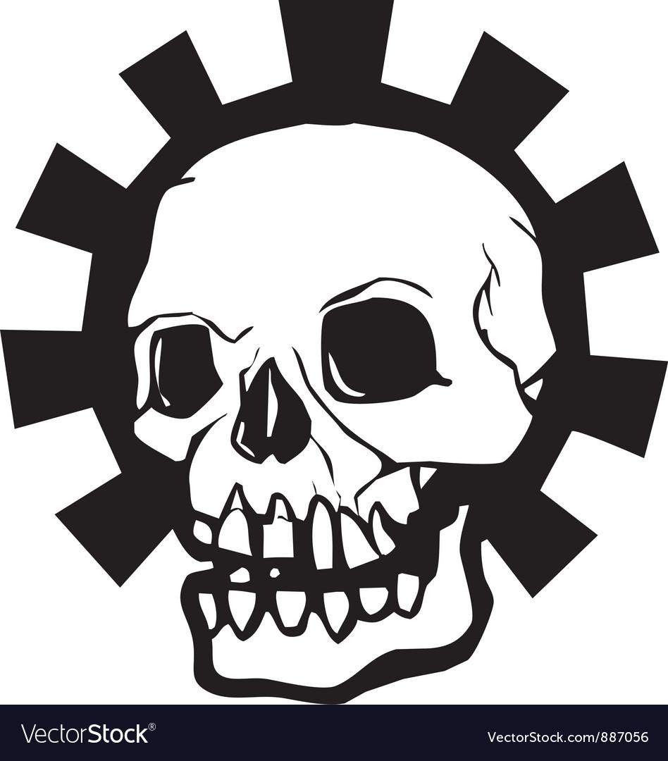 Gear skull full vector | Price: 1 Credit (USD $1)