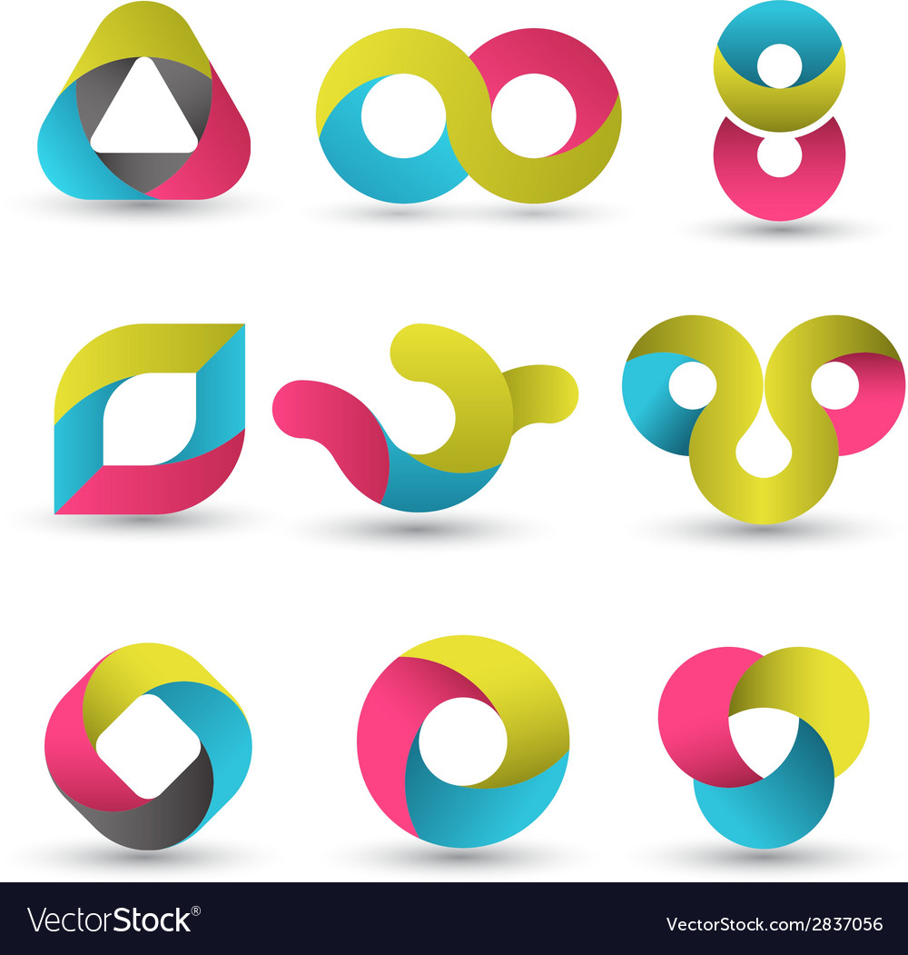 Modern shape set vector | Price: 1 Credit (USD $1)