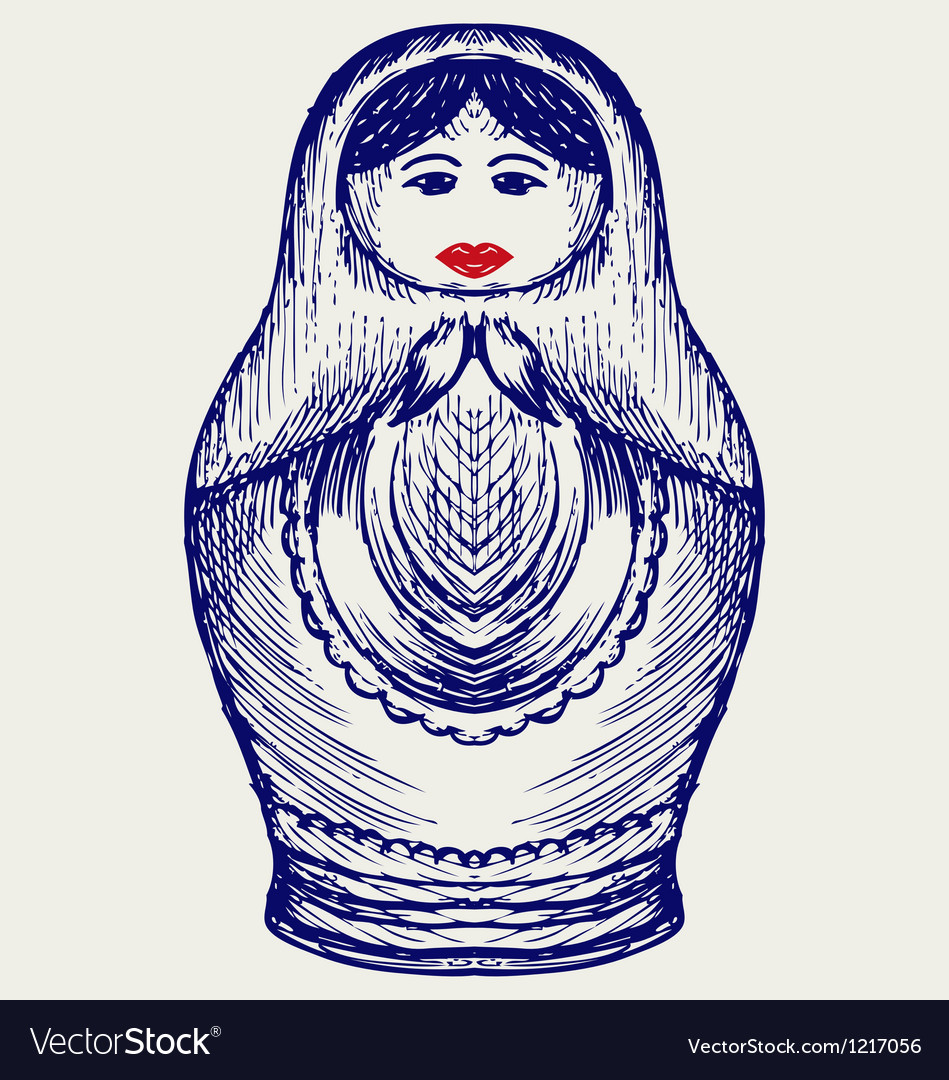 Russian dolls vector | Price: 1 Credit (USD $1)