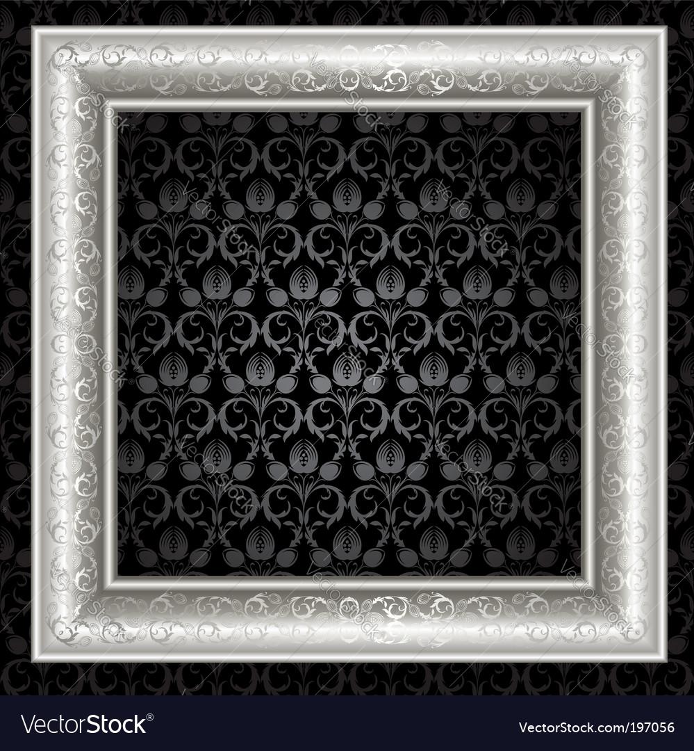 Silver frame vector | Price: 1 Credit (USD $1)