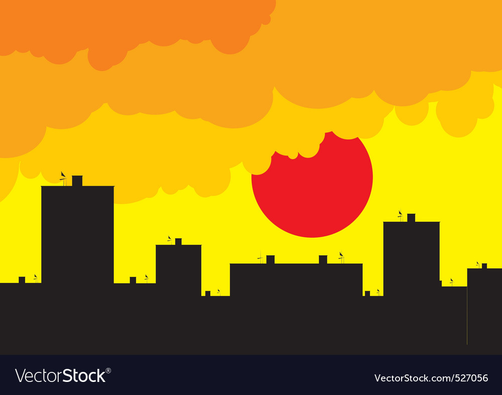 Sunset living vector | Price: 1 Credit (USD $1)