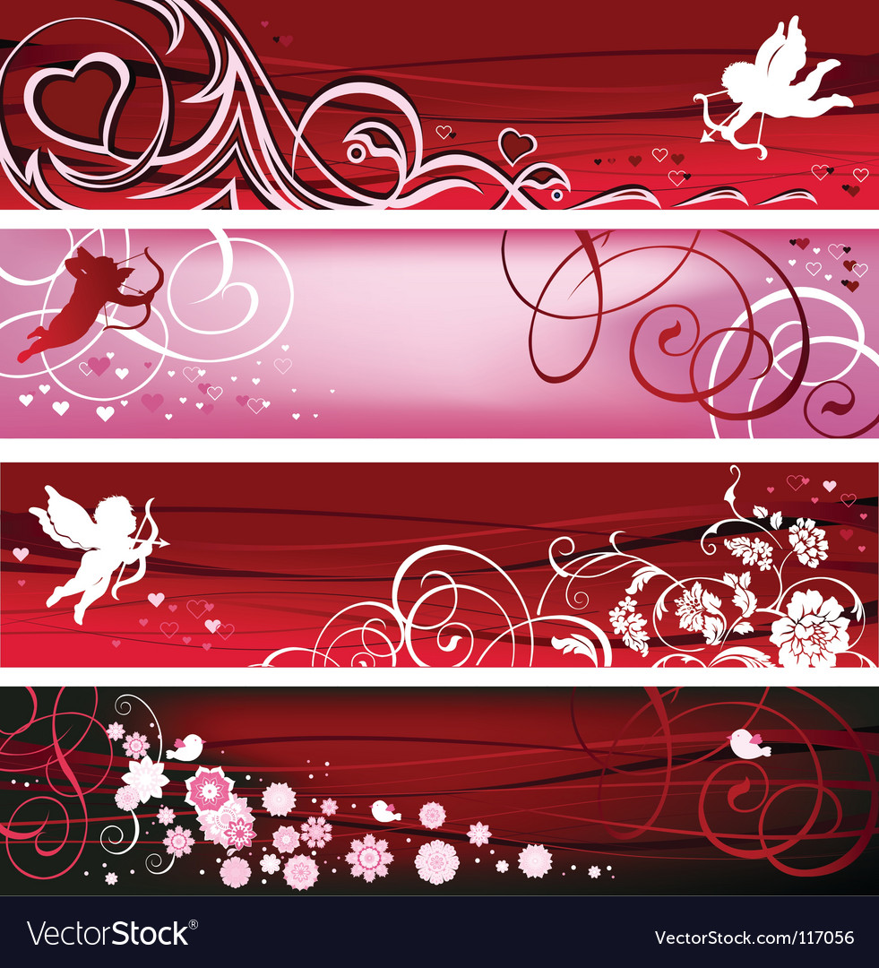 Valentine banners vector | Price: 1 Credit (USD $1)