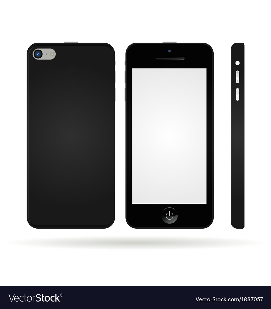 Black smart phone vector | Price: 1 Credit (USD $1)