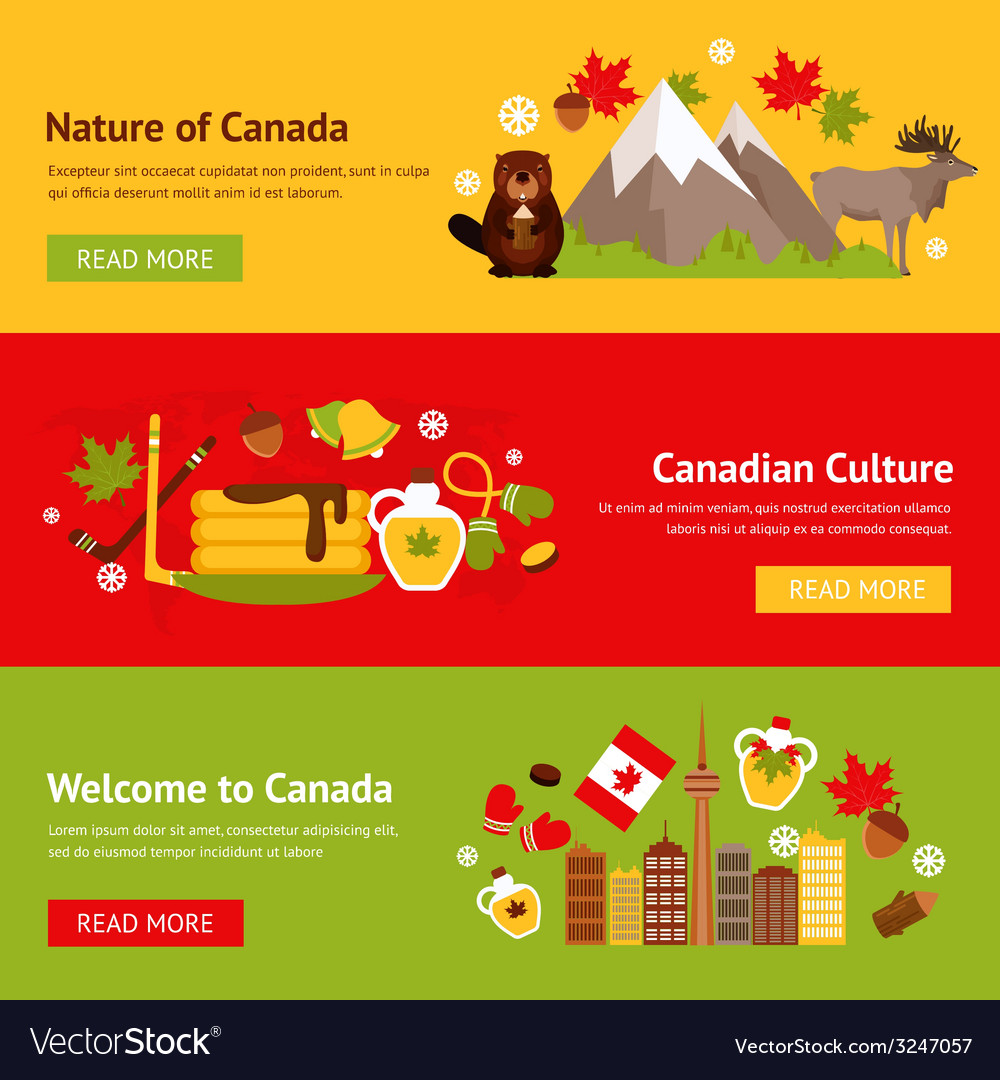 Canada banner set vector | Price: 1 Credit (USD $1)